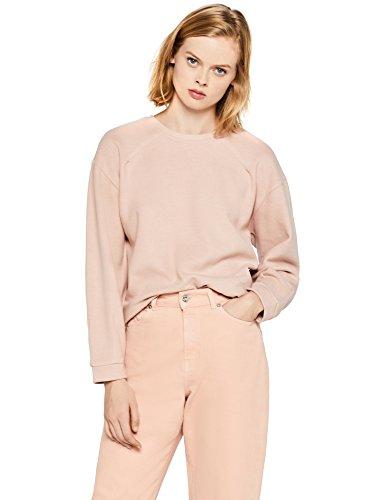 FIND Sudadera de Canalé Mujer, Rosa (Pink), 38 (Talla del Fabricante: Small)