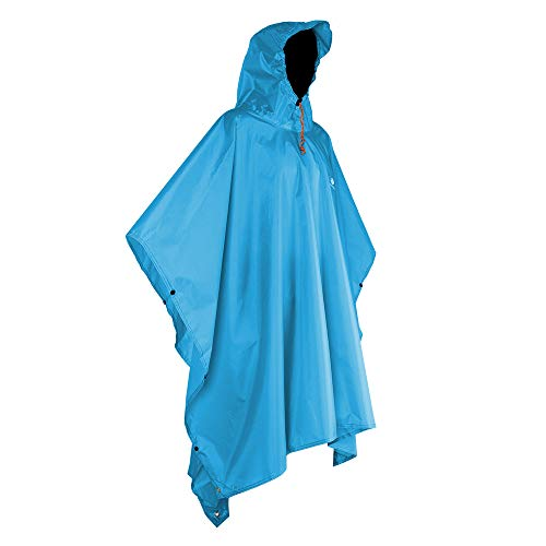 Anyoo Waterproof Rain Poncho Lightweight Reusable Hiking Rain Coat Jacket with Hood for Outdoor Activities