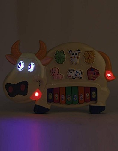 Kids Choice Cow Musical Piano With 3 Modes Animal Sounds, Flashing Lights & Wonderful Music (Caw Piano)