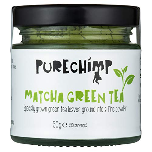 Matcha Green Tea Powder (Super Tea) 50g by PureChimp - Ceremonial Grade From Japan