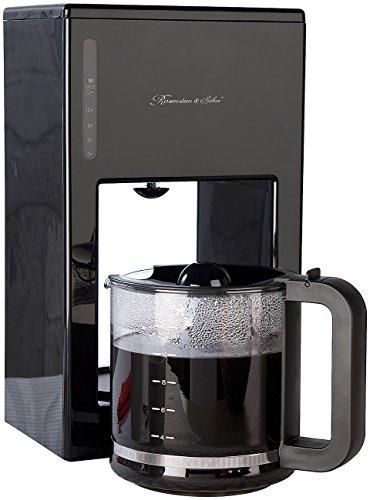 Rosenstein & Söhne Filter Kaffeemaschinen: Moderne Design-Kaffeemaschine für bis zu 12 Tassen,...