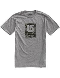 Burton Logo Vertical Fill–Camiseta para hombre, hombre, T-Shirt LOGO VERTICAL FILL, gris, S