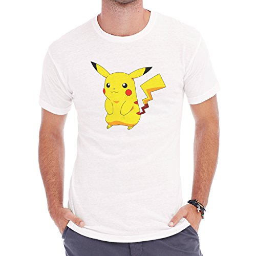 Pokemon Pikachu Electric Rat Yellow Sitting Herren T-Shirt Weiß