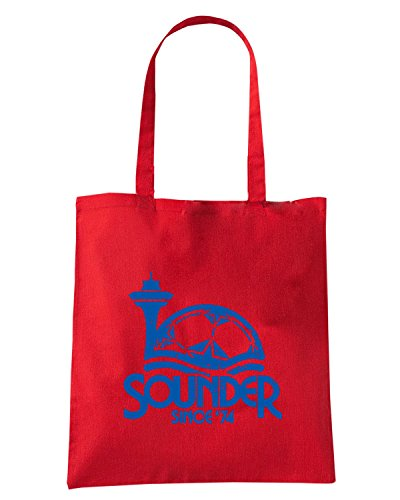 T-Shirtshock - Borsa Shopping WC0553 SEATTLE T-SHIRT - SOUNDER SINCE 74 Rosso