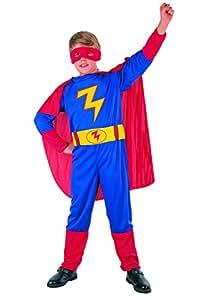 Fiori Paolo Super Hero Costume Bambino, Blu, M (5-7 anni) 61175.M