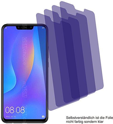 4X Crystal Clear klar Schutzfolie für Huawei P Smart+ Plus Bildschirmschutzfolie Displayschutzfolie Schutzhülle Bildschirmschutz Bildschirmfolie Folie