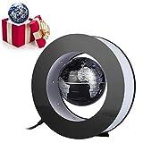 Globo levitazione magnetica - Globo tondo elettronico oscillante - con luce a LED - Home Office Display(argento e nero)