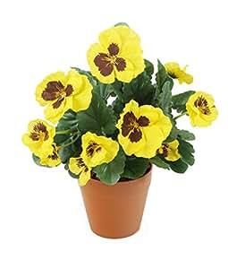 Closer 2 Nature - HBC006YE, Pianta finta con fiori gialli, altezza: ca. 30 cm [Vaso non incluso]