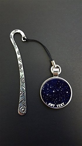 personalised-stars-in-space-any-text-pendant-on-a-silver-coloured-metal-design-bookmark-ideal-birthd