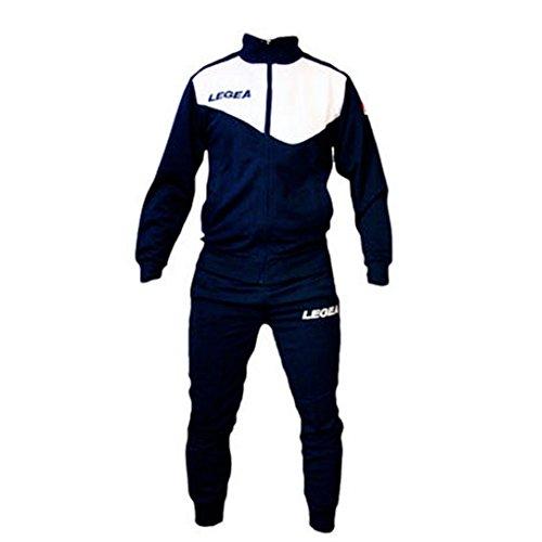 Tuta legea m1110 messico da uomo completa giacca e pantalone training sportiva (m, blu-bianco)
