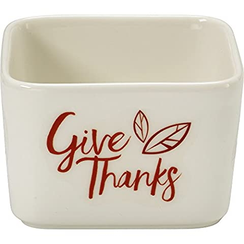 Celebrations by Precious Moments 171532 7 oz Give Thanks Fall Harvest Porcelain Appetizer and Dip Serving Bowl,