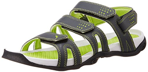 Puma Men's Aripon 3 DP Dark Shadow, Lime Punch and Black Rubber Athletic & Outdoor Sandals - 8 UK/India (42 EU)