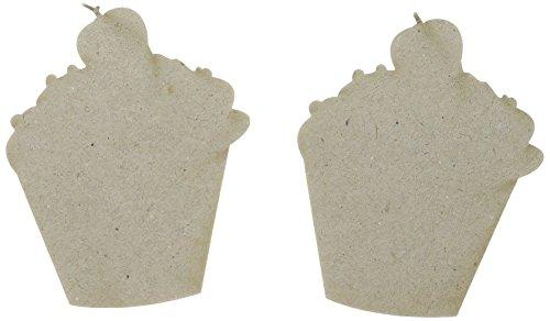 Abbellimenti truciolare grigio tagliato-Cupcake forme 2/Pkg