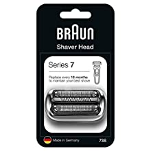 Braun Series 7 73S Electric Shaver Head Replacement - Silver - Compatible with Series 7 Shavers (New Generation)