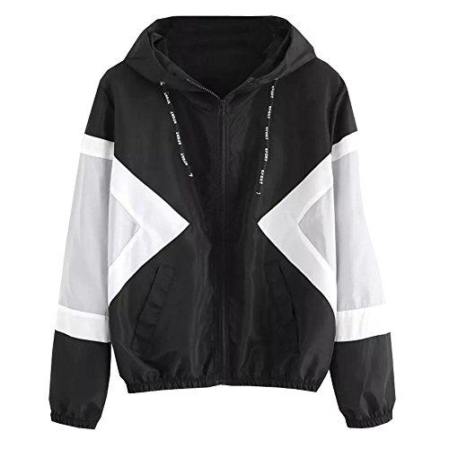 Damen Leicht Sport Jacken Frauen Übergangsjacke Jacke mit Kapuze Windbreaker Kapuzenjacke Sweatjacke Zip Hoodie Windjacke für Frühjahr und Herbst von ()