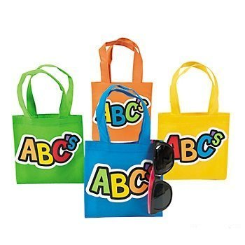 4 ~ ABC Mini Totes / Tote Bags ~ Approx. 6