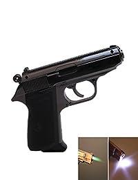 Hutz Mauser Pistol Shaped Jet-flame Gun Cigarette Lighter (Metal Grey)