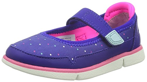 Clarks Tri Bitsey Inf, Mädchen Knöchelriemchen Sandalen, Blau (Blue Leather), 27 EU (9 Kinder UK)
