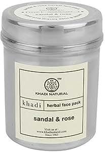 Khadi Sandal and Rose Herbal Face Pack, 50g