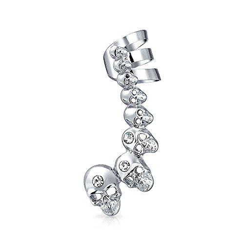 Bling Jewelry cristal Calaveras Punk del cartílago del oído...