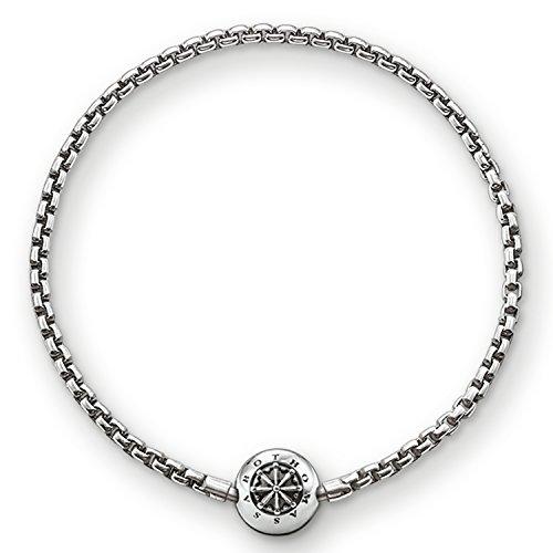 THOMAS SABO Unisex Armband für Beads Geschwärzt 925er Sterlingsilber, Geschwärzt KA0002-001-12
