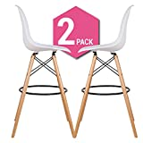 Cashoffice Barhocker Eames DSW – Tower Wood (Pack von 2) weiß