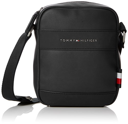 Tommy Hilfiger - Th City Mini Reporter, Shoppers y bolsos de hombro Hombre, Negro (Black), 5x20.5x18 cm (B x H T)