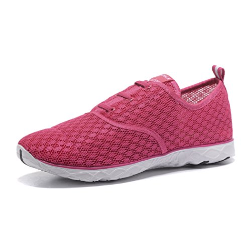 Kenswalk, Ladies Aqua Shoes Rosa / Rosso