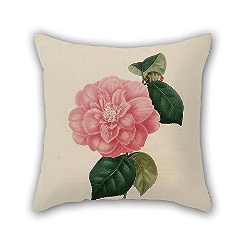 Alphadecor Fleur Taies d'oreiller 50,8x 50,8cm/50par 50cm pour garçon ami, DE CUISINE, Divan, canapé, mariage, Parure de lit avec deux côtés