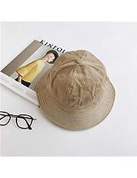 Y-XM Ante Cangilón Sombreros con ala Ancha Color sólido Sol Gorra ... 50c47a33be0