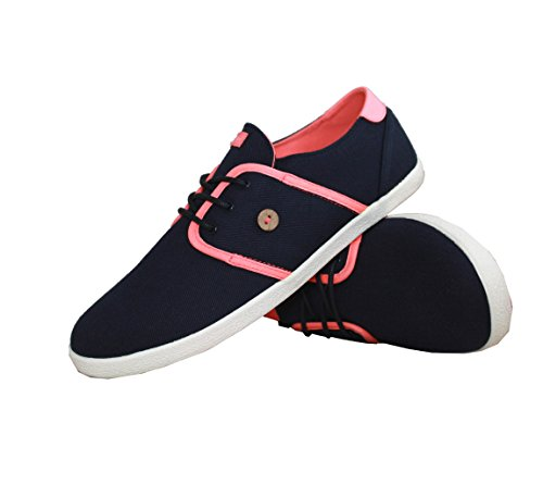 FAGUO - Baskets homme Cypress 1 ARBRE PLANTE twil-navy-fluo-pink