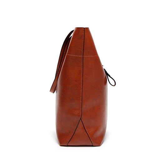 Mode Einfach Umhängetasche Diagonales Paket Mädchen Party Retro Damen Mode Lässig Handtaschen Große Kapazität Damen Tasche Brown