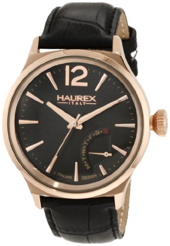 Haurex Italy Men's Watch XL Analogue Leather 6R341UGH Grand Class
