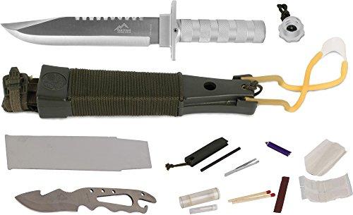 normani Surivalmesser Überlebensmesser Kampfmesser Survival Knife - 12 Teilig Farbe Silver