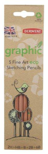 Derwent Eco Graphic Zeichenstifte 5 Stück -