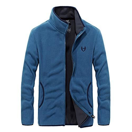 Herren Softshell Fleece Denim Blue Hoodies Sweatshirt Herren Hip Hop Sporting Trainingsanzug Hoody Denim Blue 4XL Air Force Pocket Patch