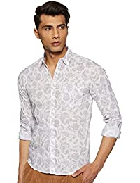 Pepe Jeans Men's Floral Slim Fit Cotton Casual Shirt
