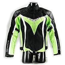 Kawasaki Ninja textil Chaqueta.Moto Chaqueta. NUEVO. Talla L Negro Verde Blanco de