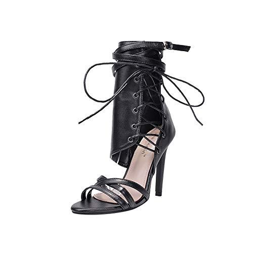 Donna Sandali, DressLksnf Elegant Estivi Sandalo Caviglia Strass Pesci Bocca Comfort Basse Tacco Basso Mid Scarpe Sera Party Shoe