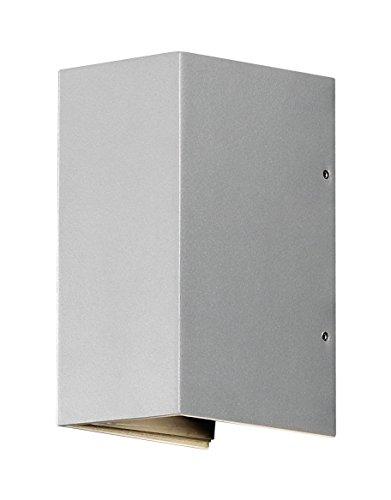 Gnosjö Konstsmide Außenleuchte, Cremona Wandleuchte, grau, 8 x 11 x 17 cm, 3 ml, 7940-310