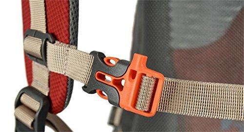 Outdoor-Rucksack Wandertasche Männer und Frauen Taschen 40L Bergsteigen Rot