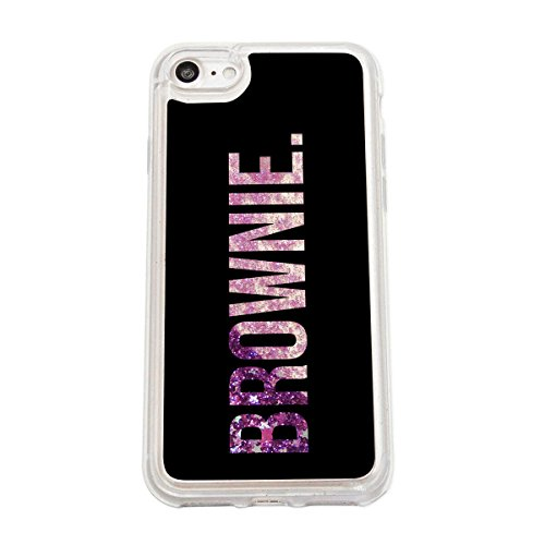 finoo | Iphone 7 Flüssige Liquid Lila Glitzer Bling Bling Handy-Hülle | Rundum Silikon Schutz-hülle + Muster | Weicher TPU Bumper Case Cover | Tweety Happy Brownie Black
