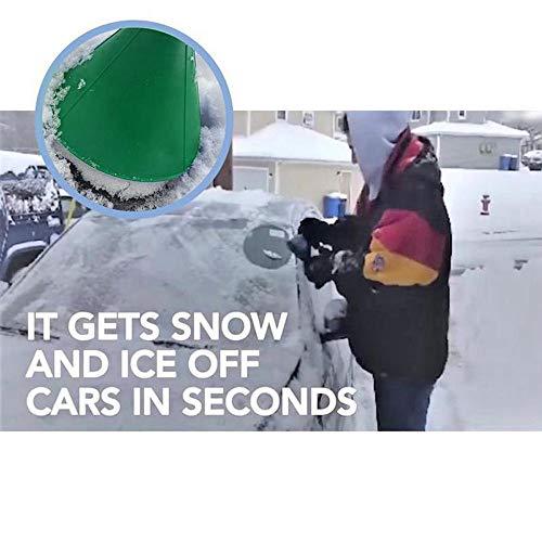 Cinhent--Verde-Auto-Automobili-Parabrezza-Parabrezza-raschiare-Circolare-a-Rotondo-Conico-Raschietto-per-Ghiaccio-Neve-Strumento-di-rimozione-Pala-da-Neve-con-Punto-Comodo-da-Tenere