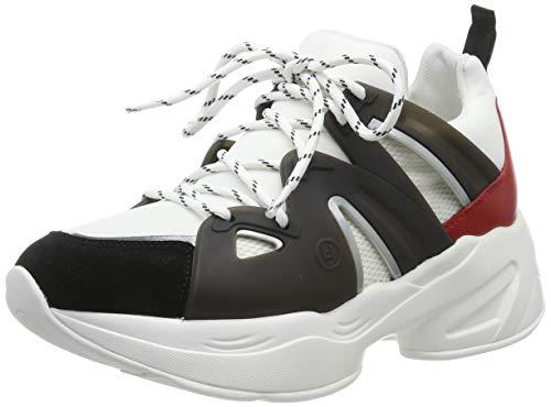 sports shoes 40f7e 4a86a Liu Jo Shoes Women's Jog 07 - Sock Sneaker Black/White/Rouge Low-Top,  Multicolour S19c4 5 UK