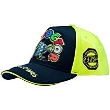 VR46Hombre Valentino Rossi–Gorra infantil The Doctor Tapa, Azul/Amarillo, One size