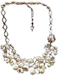 TBOP NECKLACE THE BEST OF PLANET Simple And Stylish Jewelry Hollow Branches Pearl Rhinestone Clavicle Chain Necklace...