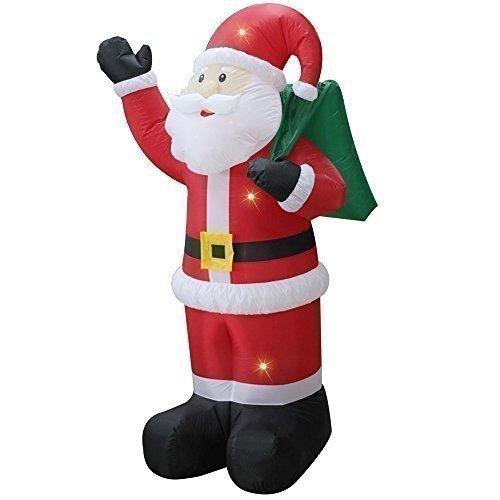 bst Aufblasbar Elektrisch Riesiger Santa Mit Sack Weihnachten ()