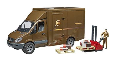 Bruder-02538-Camión Mercedes Benz Sprinter UPS con Personaje y Accesorios