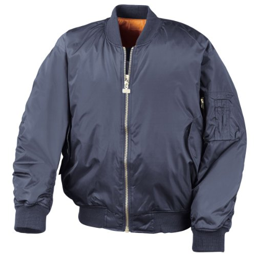 Résultat Flying jacket marine bleu orange doublure