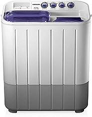Samsung 7.2 kg Semi-Automatic Top Loading Washing Machine (WT725QPNDMPXTL, White and Blue, Center Jet Pulsator